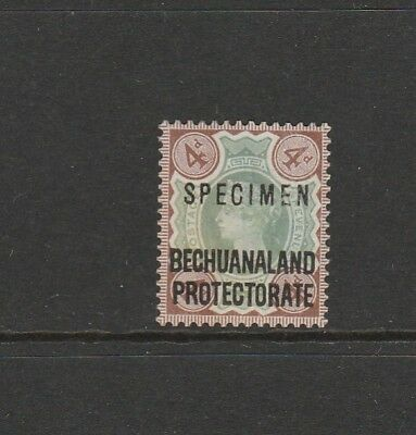Bechuanaland Protectorate Optd SPECIMEN 1897/1902 4d MM SG 63s
