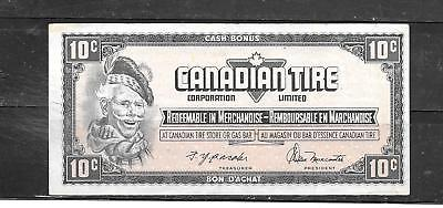 Canada Canadian 1974 10 Cent Vf Circ Tire Money Currency Banknote Bill Note