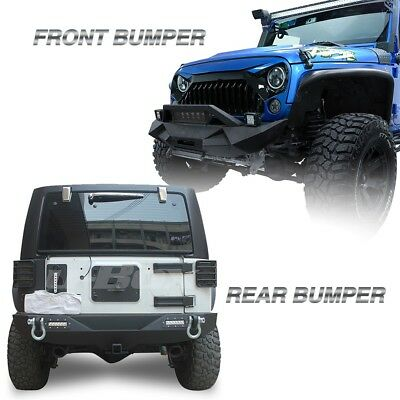 Black front and rear bumper wled light bard rings fit jeep front bumper wled light bar rear bumper wled lamp for 07 aloadofball Choice Image