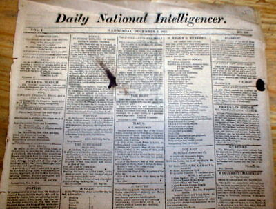 1813 War of 1812 newspaper 1st report President James Madison STATE of the UNION
