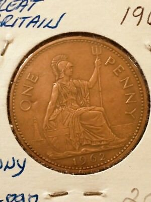 Great Britain Penny, 1962, Britannia seated right