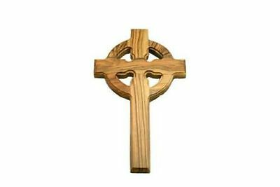 """Olivewood Celtic Gaelic St. Patrick's Cross Wall Hanging 8"""" 20 cm Hand Crafted"""