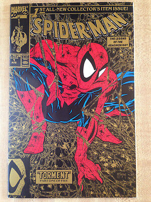 SPIDER-MAN #1 NM 1990 Gold Collector's Item Issue Todd McFarlane Spiderman L@@K!