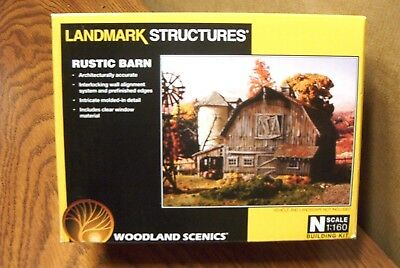 Woodland Scenics Landmark Structures Rustic Barn N Scale Building Kit