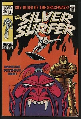 Silver Surfer #6 Vs The Overlord. Great Cover! John Buscema Art Vf/nm Cents