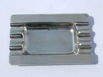 Solid Sterling Silver Ashtray Hallmarked 1952 Made By Harman Bros