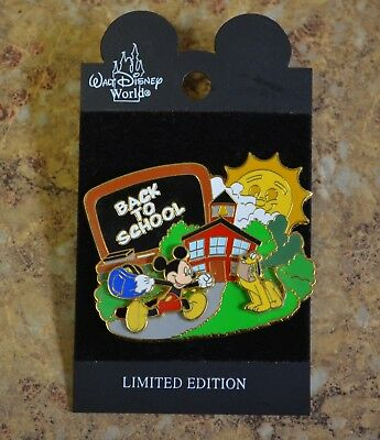 WDW Disney Back to School Mickey Pluto 3D Slider LE Trading Pin New on Card