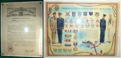 USMS Merchant Marine Officer Commission + Uniforms & Insignia Chart  -SHIPS FREE