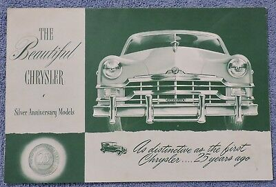 1948-1949 Chrysler Silver Anniversary Models Sales Brochure-Wagon-Sedan-Rag Top