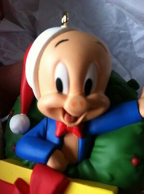 Merry Christmas Folks! Porky Pig Looney Tunes Hallmark Ornament 2015 NIB Sound