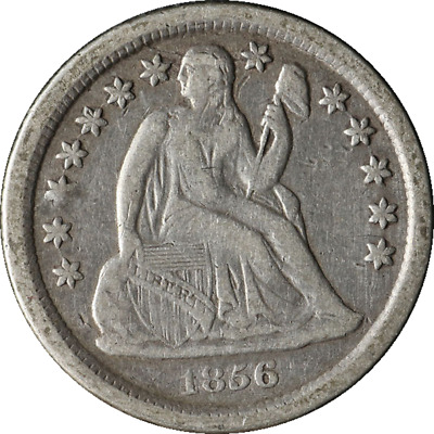 1856-O Seated Liberty Dime Great Deals From The TECC Bargain Bin