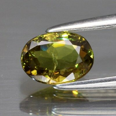0.72ct 6.6x4.7mm Oval Natural Greenish Yellow Demantoid Garnet, Madagascar