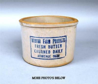 Red Wing 3 Lb. Winona Farm Products Stoneware Butter Crock
