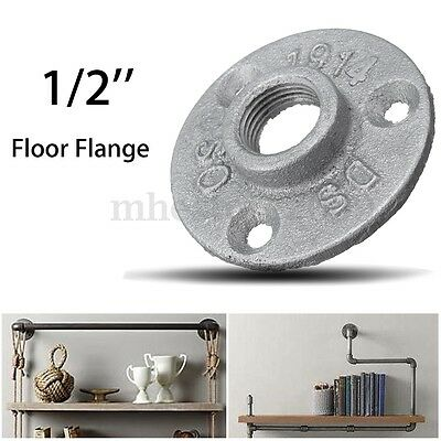 1/2'' Malleable Threaded Floor Flange Iron Plumbing Pipe Fittings Wall Mount DIY