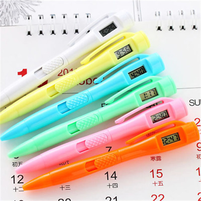 One Creative Student Stationery Ball Point Pen Electronic Watch Ballpoint Gift