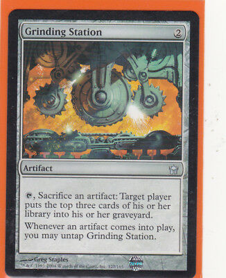 MTG Fifth (5th) Dawn 1 x GRINDING STATION  Uncommon card  Never played AS NEW