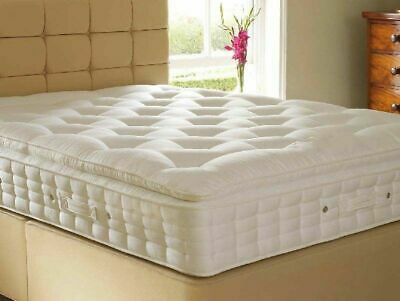 High quality pocket sprung pillow top mattress 3ft single 4ft6 double 5ft king