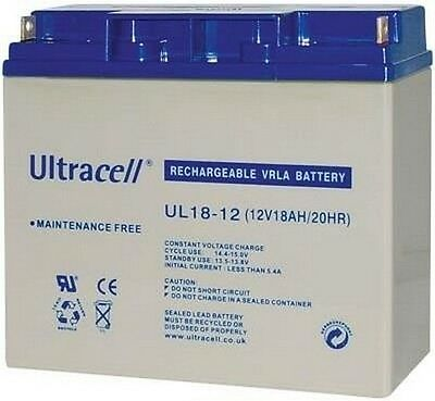 Batterie Ultracell UL18-12 / batterie au plomb 12V 18AH 181,5x77x167,5mm
