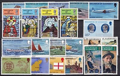 Guernsey Sets + Singles Commemoratives Below Face Value (33) Mint Never Hinged