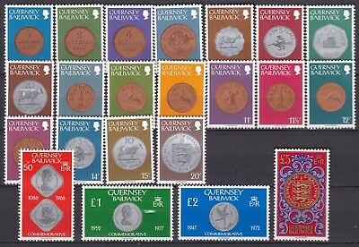 Guernsey  1979 Coins Below Face Value (38) Mint Never Hinged