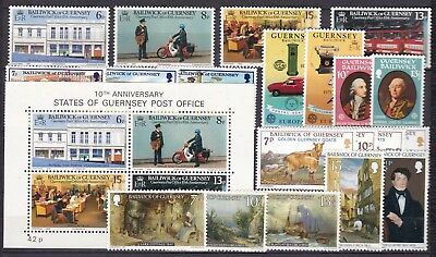 Guernsey Commemorative Sets Below Face Value (39) Mint Never Hinged