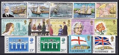 Guernsey Commemorative Sets Below Face Value (43) Mint Never Hinged