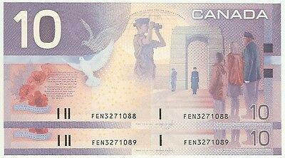 2 Sequential Serial# FEN 2001 issue date $10 CDN Journey Series GEM UNC