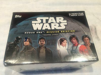 "L@@k Topps Star Wars ""rogue One: Mission Briefing"" Factory Sealed Box"