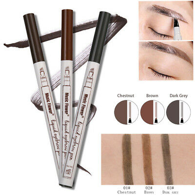 Patented Microblading Eyebrow Tatto Pen Waterproof Fork Tip Sketch Makeup