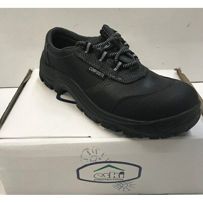 WF406 Black Leather Metal Free Work Safety Shoes Size Choice........