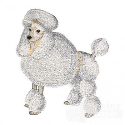 Large Embroidered Zippered Tote - Poodle AD017