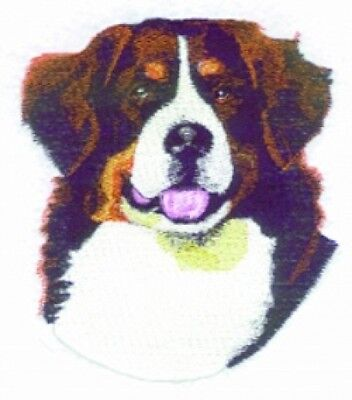 Large Embroidered Zippered Tote - Bernese Mountain Dog BT3514