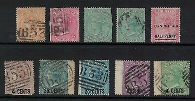 Mauritius Stamps 1860s crown CC victoria era fine used/ used better noted cv£100