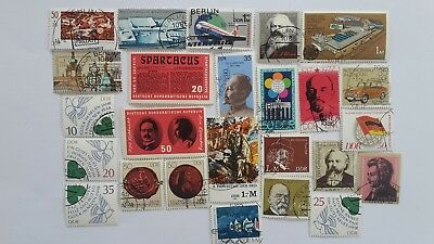 25 Different Germany Stamp Collection - Post 1949 East/DDR Souvenir Sheets