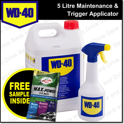 WD40 5 Litre Can & Spray Applicator Bottle Oil Water Displacing WD 40 WD-40 5L