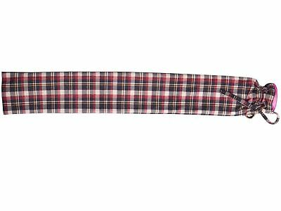 Intelex Extra Long PVC Hot Water Bottle Red Tartan Cover Lovely Xmas Gift Boxed