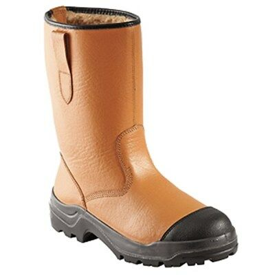 G302 Rigger Safety Boots Tan Leather Fur Lined Size Choice......
