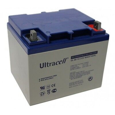 Ultracell UL40-12 : Batterie au plomb étanche 12V 40AH : 160x195x170mm