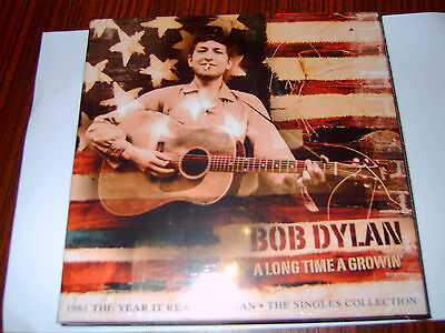 "Bob Dylan A Long Time A Growin' 6 x7"" Red Vinyl The Singles Collection NEW-OVP"