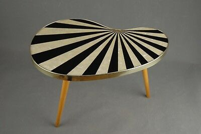 Small Mid Century TABLE Vintage Atomic Mother of Pearl Tripod Eames 1950s 60s
