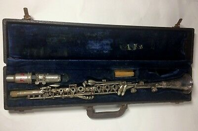 Vintage H Bettoney Silva Bet Clarinet With Mouthpiece Reeds & Case