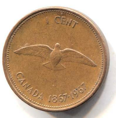 1967 Canadian Centennial One Cent Coin - Canada Penny