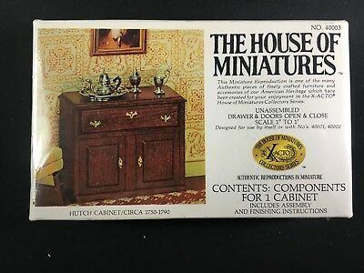 SEALED The House of Miniatures HUTCH CABINET Circa 1750-1790 X-Acto 40003