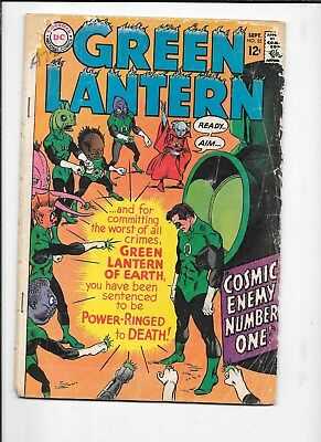 Green Lantern  #55 Dc Comic Book Free Shipping  1967