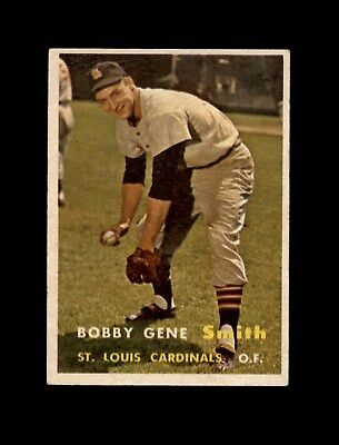 1957 Topps Baseball #384 Bobby Gene Smith RC (Cardinals) EX+