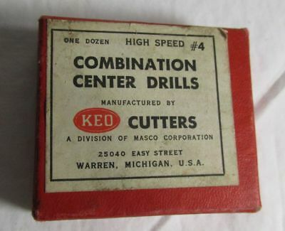 KEO Cutters Combination Center Drills High Speed #4  9 pieces NEW