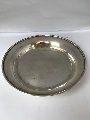 VICTORIAN Round Antique Solid Sterling Silver Dish 1893/94 49 Grams