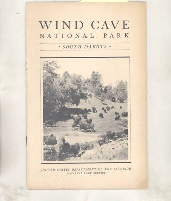 1934 Wind Cave National Park Black Hills South Dakota Brochure wz2399