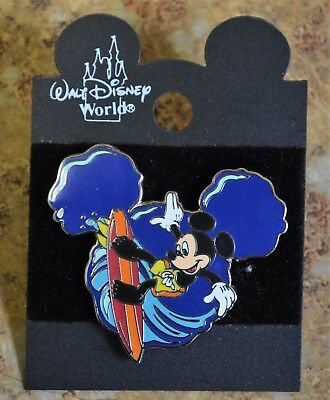 WDW Disney 2001 Countdown to MGM Mickey Surfing Trading Pin New on Card