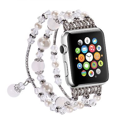 For Apple Watch Bling Agate Beads Strap Bracelet Band For iWatch 3/2/1-42mm
